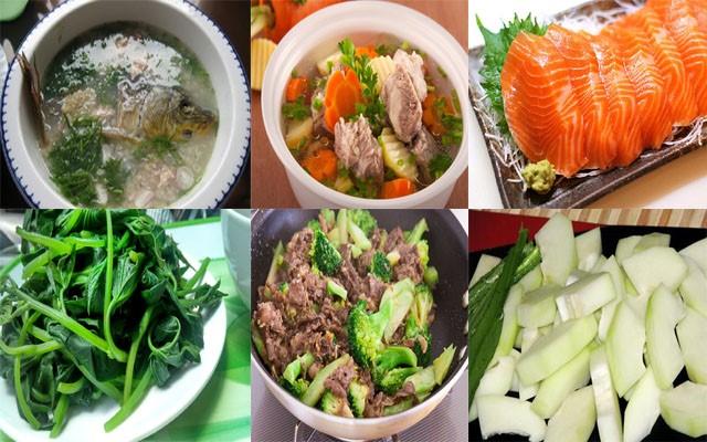 Thực phẩm nên dùng sau sinh