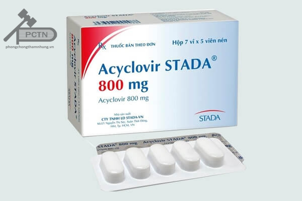 Acyclovir liều 800mg