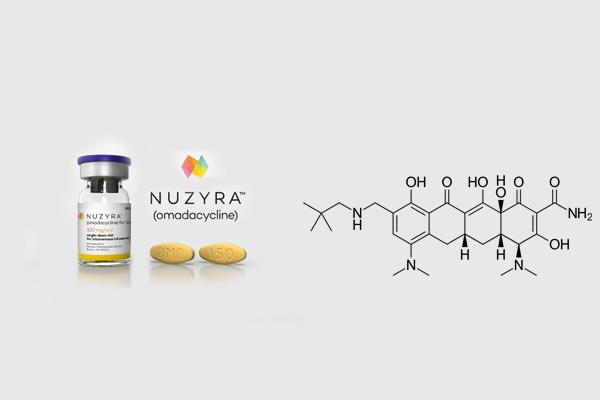 Thuốc nuzyra và công thức hóa học của hoạt chất chính omadacycline