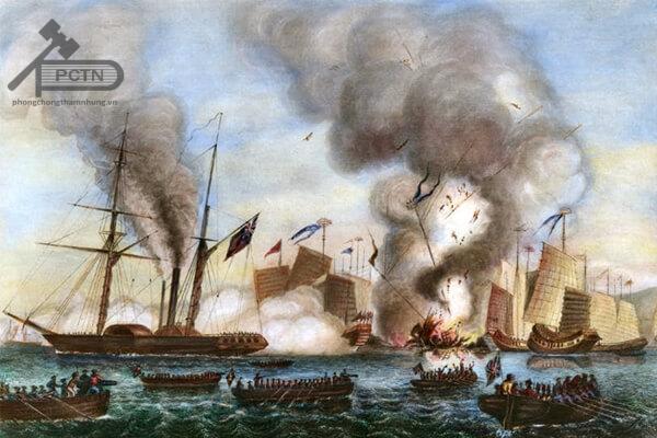 Thực dân Anh đánh triều đình nhà Thanh