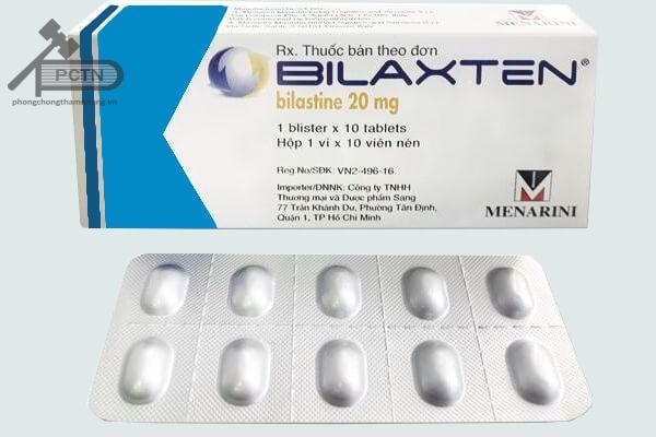 Hộp thuốc và vỉ thuốc Bilaxten 20mg