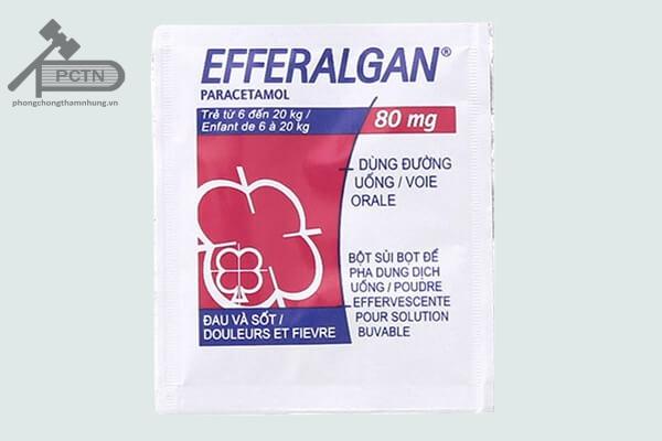 Gói thuốc Efferalgan 80mg