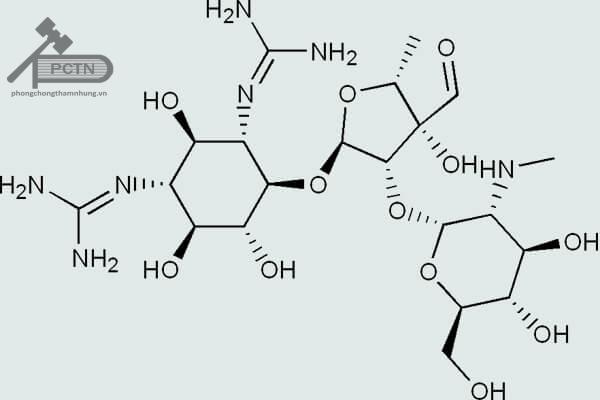 Công thức cấu tạo Streptomycin – Aminosid đầu tiên