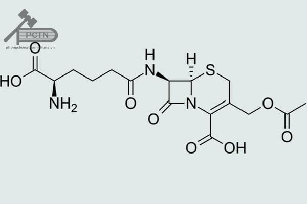 Công thức cấu tạo Cephalosporin C