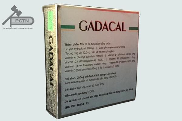 thuốc gadacal là thuốc bổ sung vitamin