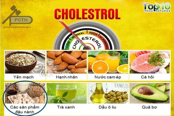 Tác dụng của đậu nành trên chuyển hóa cholesterol