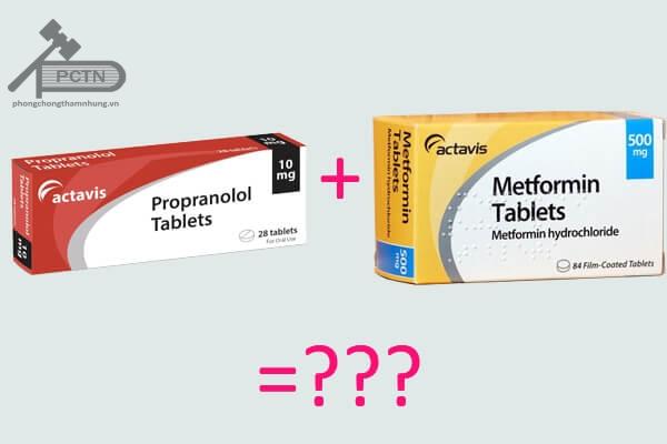 Thuốc  Propranolol không dùng kết hợp với Metformin