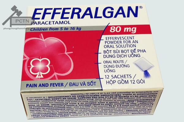 Thuốc bột Efferalgan 80mg