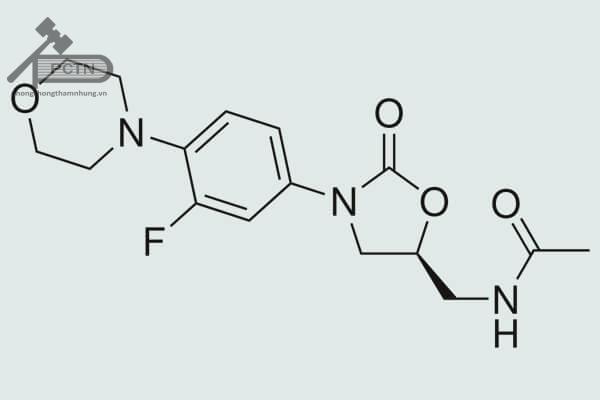 Công thức cấu tạo của linezolid