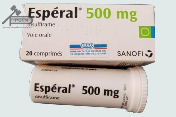 esperal 500mg có tác dụng điều trị cai rượu