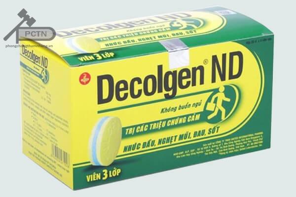 Thuốc giảm đau Decolgen
