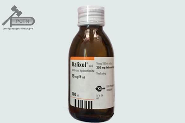 Chai thuốc halixol siro