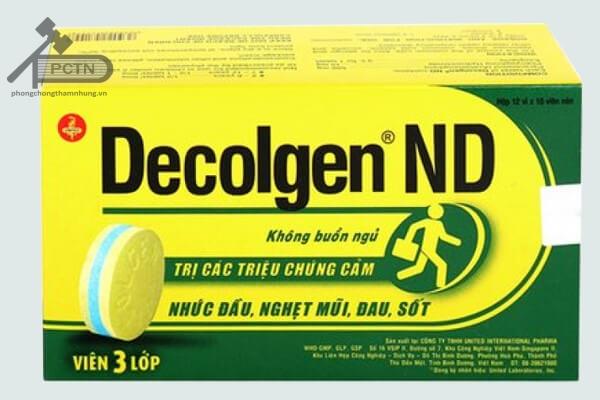 Hộp thuốc Decolgen ND
