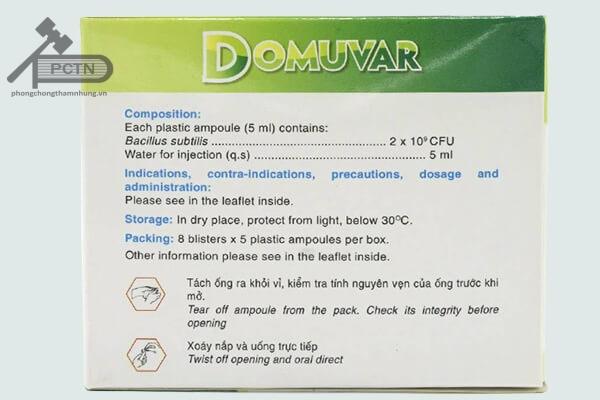 Cách dùng thuốc Domuvar