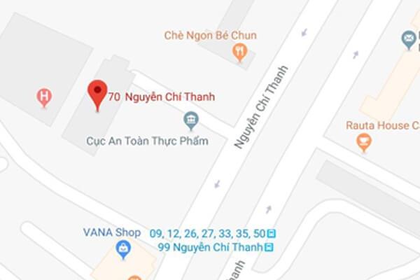Địa điểm trung tâm y tế dự phòng Hà Nội tại 70 Nguyễn Chí Thanh