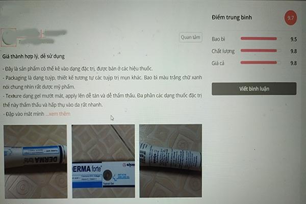 Khách hàng Review sản phẩm sau khi sử dụng sản phẩm Derma forte