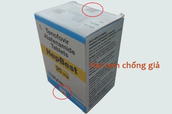 Thuốc hepbest có hai tem chống giả