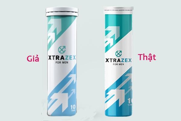 Sự khác nhau của Xtrazex thật và giả