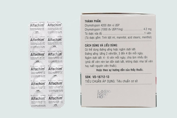 Thành phần của thuốc Alfachim