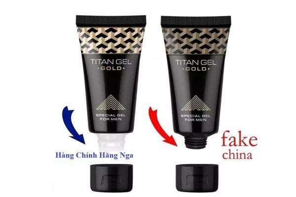 Cách phân biệt sản phẩm Titan gel thât và giả