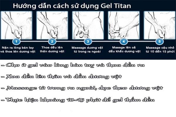 Hướng dẫn sử dụng Titan gel gold