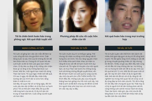 Review của khách hàng về sản phẩm Titan gel gold