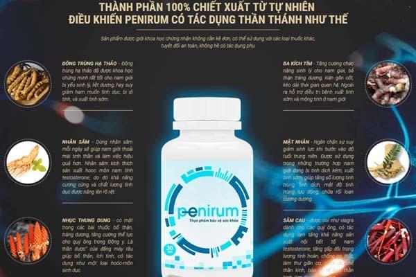 Tác dụng của từng thành phần Penirum