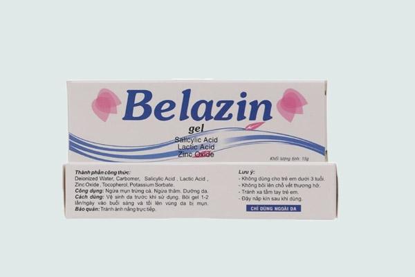 sản phẩm gel trị mụn Belazin