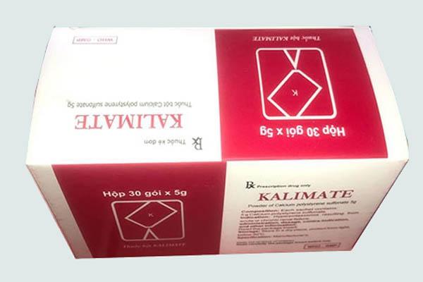 Thuốc Kalimate có tác dụng làm giảm kali máu