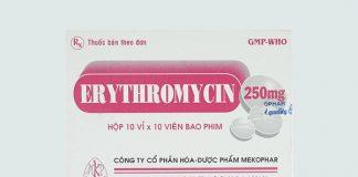 Thuốc Erythromycin 250mg
