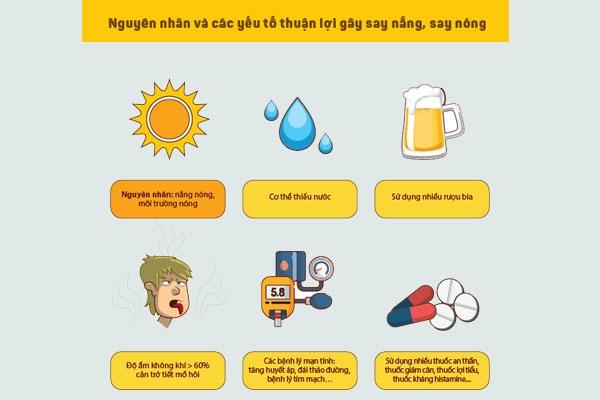 Nguyên nhân và yếu tố thuận lợi dẫn đến say nắng