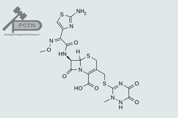 Công thức hóa học ceftriaxone