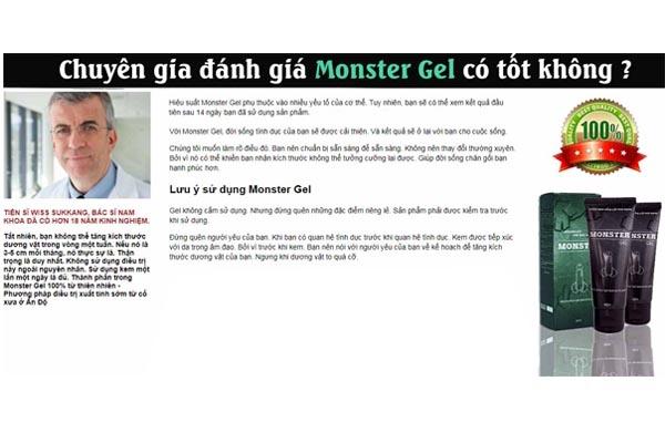 Đánh giá từ chuyên gia về sản phẩm  Monster Gel