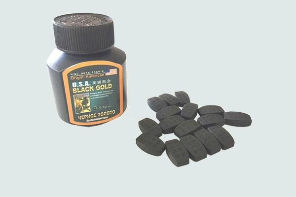 Hộp thuốc và viên thuốc Usa black gold