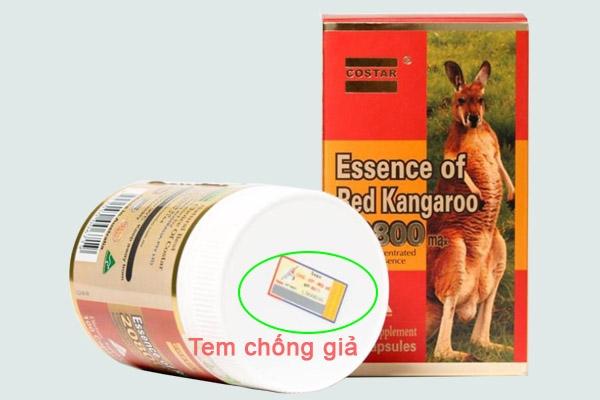 Tem chống giả của Essence of red kangaroo