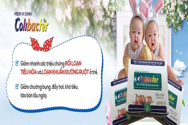 Tác dụng của MEN VI SINH BẠCH MAI COLIBACTER