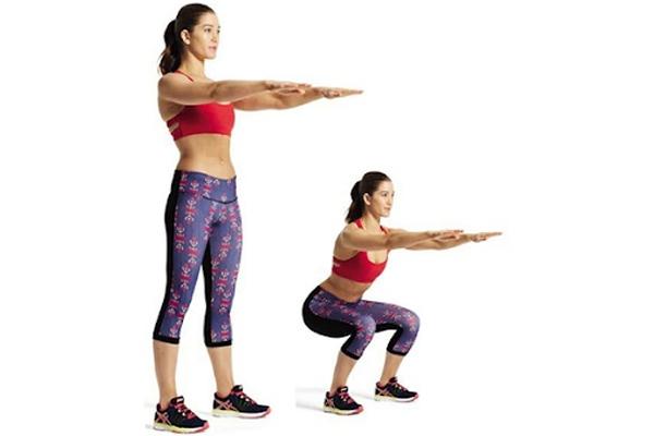 Mô tả động tác squat không mang tạ
