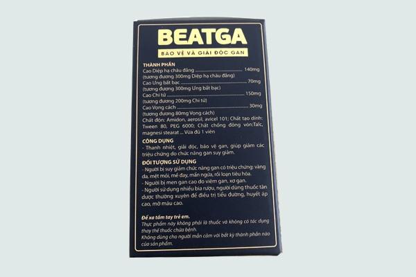 Thành phần của beatga
