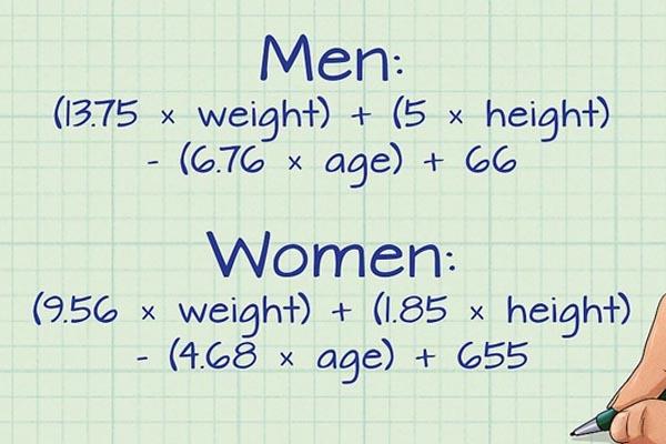 Tính toán lượng calories cần thiết