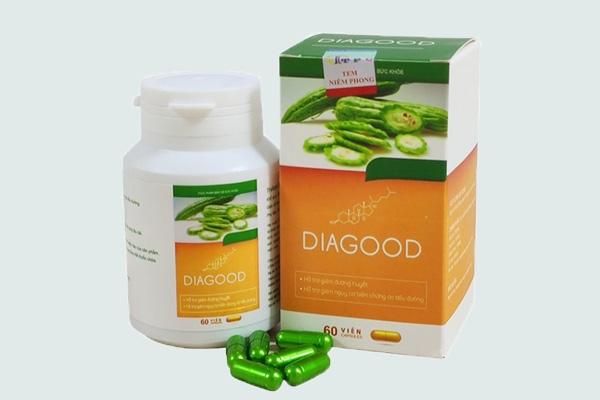 Hộp và viên thuốc Diagood