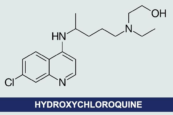 Công thức hóa học của Hydroxychloroquine
