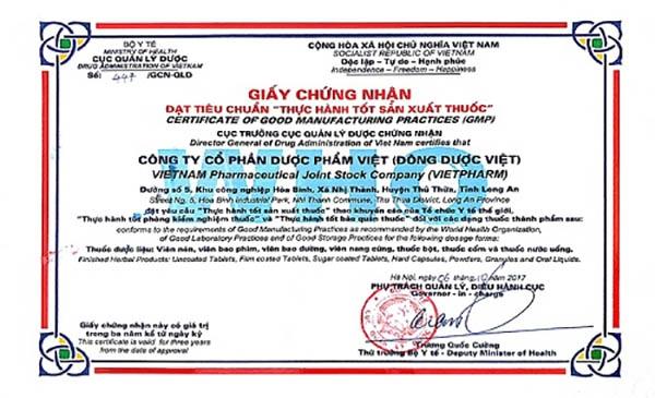 Nhà máy sản xuất viên uống Diagold đạt tiêu chuẩn GMP WHO