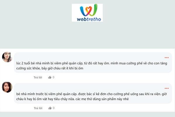 Review trên Webtretho về sản phẩm Cường Phế