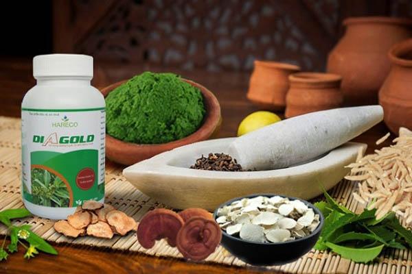 Diagold được chiết xuất từ nhiều loại thảo dược tự nhiên
