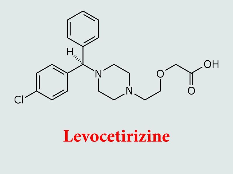 Công thức hóa học của Levocetirizine